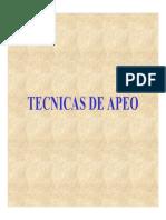 Tecnicas de Apeo, Desrame y Trozado