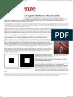 Bianco Su Nero_ Scoperto Il Segreto Dell'Illusione Ottica Di Galileo - Le Scienze