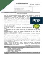 PRÁCTICA DE COMPRENSIÓN LECTORA