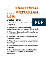 Humanitarian Law Human Rights