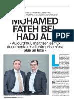 Interview Mohamed Fateh BEL HADJ ALI