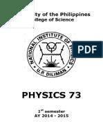 Physics 73 3rd LE Samplex