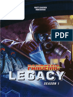 Pandemic Legacy Rules - English - No Spoilers | Epidemics | Playing
