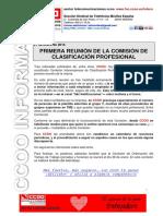 2016 01 21 COMUNICADO Comisión Grupos Profesionales