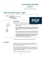 Plant Growth Factors Light