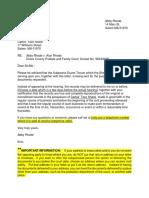 Sample Subpoena Letter