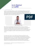 Misdiagnosis and Medical Malpractice Claims by Floyd Arthur