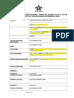 Modelo Finalización Cierre Financiero y Archivo