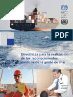 Directrices para la realización de los reconocimientos médicos de la gente de mar