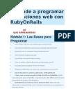 Aprende a Programar Aplicaciones Web Con RubyOnRails