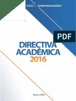 Directiva Académica 2016