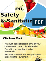 kitchen safety and sanitation- 2015