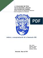 Análisis de La Resolucion 058 TF Revisado