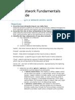 Cisco 1 Network Fundamentals FINALS Study Guide