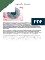 Cómo Prevenir La Ceguera Por Glaucoma