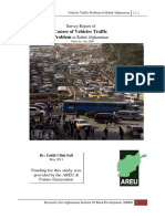 Survey Report of Causes of Vehicles Traffic Problem in Kabul Afghanistan