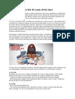 Red Cross Lifeline Kit