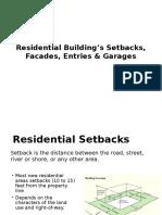 Residential Building's Setbacks, Facades, Entries_Urban Design