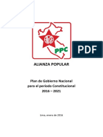 Plan Gob Alianza Popular 2016-2021