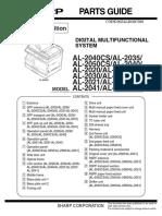 Manual de Partes Al 2031 2041 2051