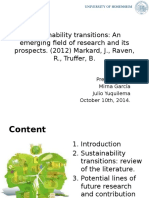 Sustainability Transitions