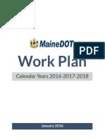 Maine DOT Work Plan — 2016-2018