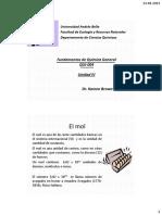 Clase Mol, Fórmula Empírica, Ecuacion