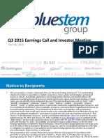 Bluestem Q3 2015 Earnings Presentation