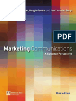 Marketing Communications a European Perspective. Third Edition Pearson