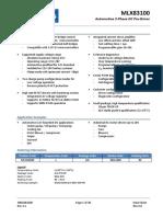 MLX PreDriver MLX83100 Datasheet