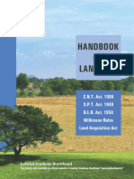 Handbook on Land Law Jharkhand
