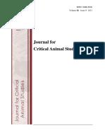 Journal of Critical Animal Studies