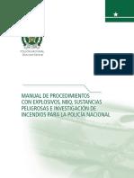 Manual de Procedimientos de explosivos Policia de Colombia