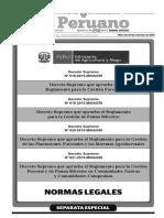 Decreto Supremo Nº 018-2015-MINAGRI - Decreto Supremo que aprueba el Reglamento para la Gestión Forestal (Ley 29763)