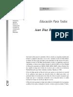 Educación Para Todos - Díaz Bordenave