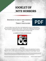 Booklet of Infinite Horrors