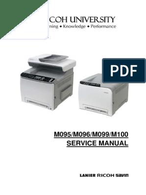 Service Manual Ricoh Aficio SPC240DN_242SF | Manufactured Goods