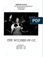 Wizard of Oz Audition Packets