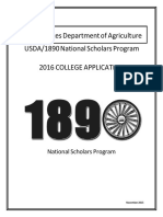 Revised 2016 1890 Scholars College Application OMB Approved 121515