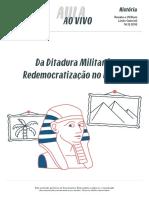 Historia Da Ditadura Militar Redemocratização No Brasil