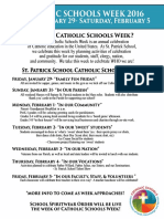 Catholic Schools Week for School