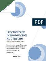 LECCIÓN I INTRODUCCION AL DERECHO DERECHO UNIVERSIDAD ANTOFAGASTA