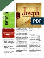 Joseph 10 Gen 39-40 Handout 012416