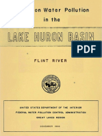 Report on Water Pollution in the Lake Huron Basin (Flint River) - December 1966