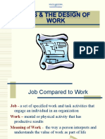 Job & The Design of Work