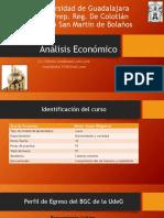 Encuadre y Presentación Del Curso Análisis Economico