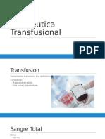 Terapéutica-Transfusional