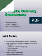 Prezentacja Polityki Ochrony Srodowiska