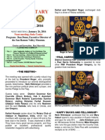 Moraga Rotary Newsletter Jan 19, 2016