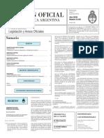 Boletín Oficial de la República Argentina, Número 33.301. 21 de enero de 2016